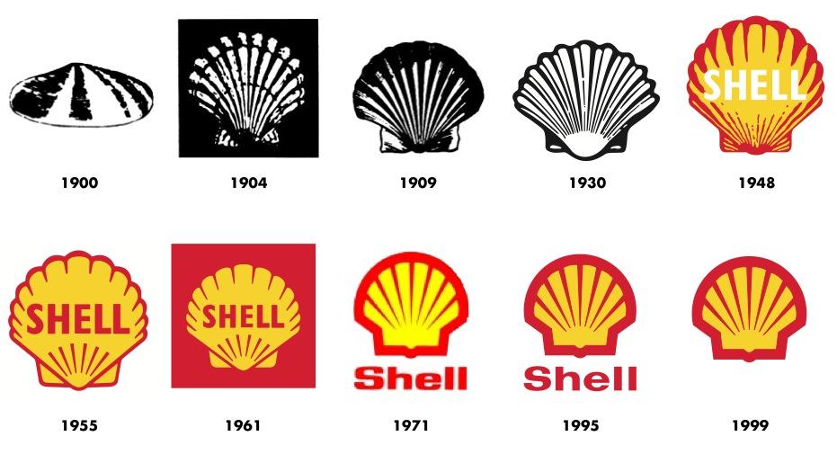 Shell Gasoline Logo Iconic Shell Scallop Logo