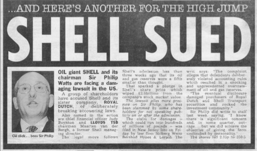 royal dutch shell reserves scandal 2004