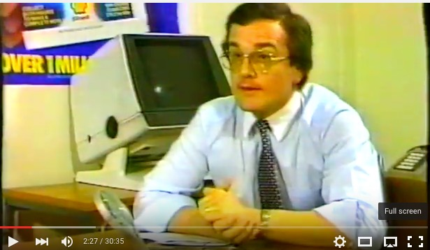 Ken Brown, Operations Director of Don Marketing, 1984