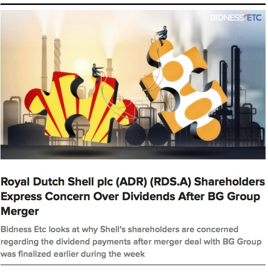 Rdsa Quote: Royal Dutch Shell Plc Shareholders Express Concern Over