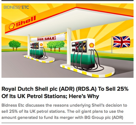 Rdsa Quote: Shell To Sell 25% Of Its UK Petrol Stations