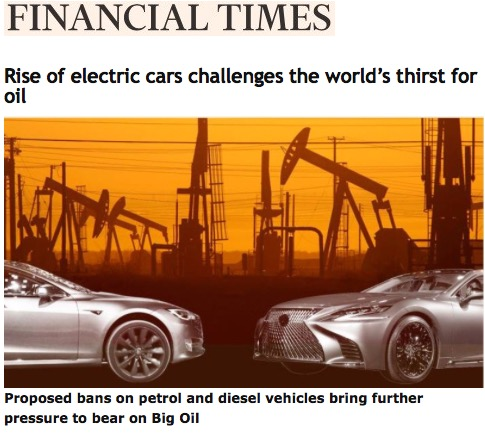 Rise Of Electric Cars Challenges The World S Thirst For Oil